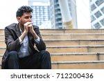 unemployed businessman stress...   Shutterstock . vector #712200436