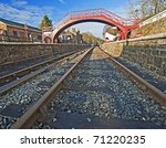 View Down The Tracks At An Old...