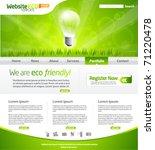 green eco website layout...   Shutterstock .eps vector #71220478