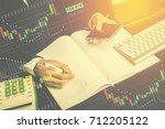 businessmen are taking notes  | Shutterstock . vector #712205122
