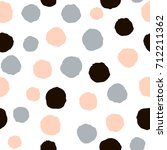 seamless pattern with ink hand... | Shutterstock .eps vector #712211362