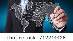 businessman on blurred... | Shutterstock . vector #712214428