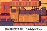 kitchen flat illustration | Shutterstock . vector #712220602