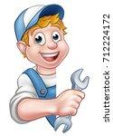 an illustration of a cartoon... | Shutterstock . vector #712224172