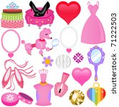 vector of sweet princess theme... | Shutterstock .eps vector #71222503