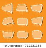 comics stiker simple label...   Shutterstock . vector #712231156