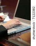 woman doing online shopping... | Shutterstock . vector #7122382