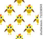 seamless pattern with owl | Shutterstock .eps vector #712238545