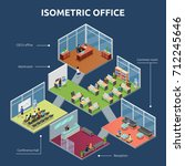 isometric business organization ... | Shutterstock . vector #712245646