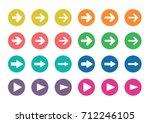 arrow sign color circle icon ... | Shutterstock .eps vector #712246105