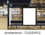 blank advertising billboard on... | Shutterstock . vector #712252912