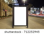 blank advertising billboard on... | Shutterstock . vector #712252945