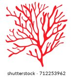 red algae silhouette vector... | Shutterstock .eps vector #712253962