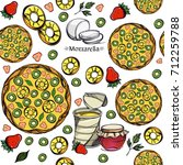 seamless pattern with a picture ...   Shutterstock .eps vector #712259788