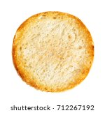 burger bun isolated on white... | Shutterstock . vector #712267192