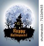 halloween background for... | Shutterstock .eps vector #712269655