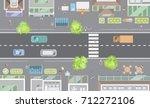 vector illustration. cityscape... | Shutterstock .eps vector #712272106
