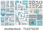 set of landscape elements. city ...   Shutterstock .eps vector #712273225