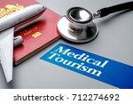 medical tourism  medical travel ... | Shutterstock . vector #712274692