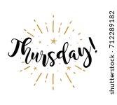 thursday. beautiful greeting... | Shutterstock .eps vector #712289182