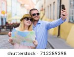 travel and tourism concept  ... | Shutterstock . vector #712289398