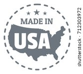 made in usa country logo....   Shutterstock . vector #712303972