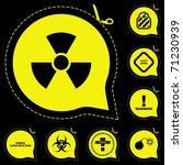 warning vector signs. vector... | Shutterstock .eps vector #71230939