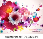 abstract floral spring... | Shutterstock .eps vector #71232754
