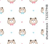seamless pattern of cute... | Shutterstock .eps vector #712327948