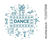 lettering of dance concept with ... | Shutterstock .eps vector #712337008