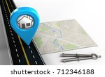 3d illustration of bright map... | Shutterstock . vector #712346188