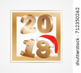 new year 2018 with frame | Shutterstock .eps vector #712350262