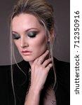 fashion studio portrait of...   Shutterstock . vector #712350916