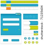 a set of interference for the... | Shutterstock . vector #71235604