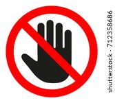 The Sign Of The Stop. The Hand...