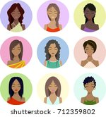 vector. people icons  avatars ... | Shutterstock .eps vector #712359802