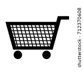trolley for supermarket icon  ... | Shutterstock .eps vector #712370608