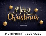 vector illustration of merry... | Shutterstock .eps vector #712373212