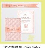 luxury wedding invitation... | Shutterstock .eps vector #712376272