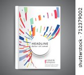 abstract  template book cover... | Shutterstock .eps vector #712379002