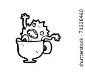 little monster in cup cartoon | Shutterstock .eps vector #71238460