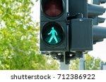 green traffic light for... | Shutterstock . vector #712386922