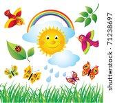 colorful spring set | Shutterstock .eps vector #71238697