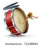 bass drum instrument. vector... | Shutterstock .eps vector #71238844