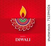 happy diwali  vector...   Shutterstock .eps vector #712394326