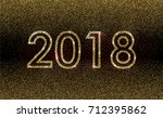 gold sparkle glittering... | Shutterstock .eps vector #712395862
