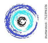 artistic greek blue evil eye... | Shutterstock .eps vector #712396156