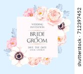 vintage wedding invitation | Shutterstock .eps vector #712397452