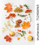 background image of autumn... | Shutterstock . vector #712406965
