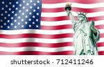 the statue of liberty ... | Shutterstock . vector #712411246